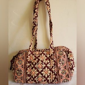 Vera Bradley Fall Quilted Small Barrel Bag